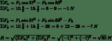 Gambar perhitungan matematis metode analitik vektor